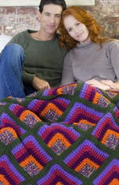 Rich Mitered Crochet Throw | AllFreeCrochetAfghanPatterns.com