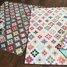 I LOVE the gray! Okay, which one do you like more? Gray or white? I can't pick. #takesthecakequilt #thimbleblossoms