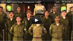 """Check out this amazing video clip produced especially for the Jewish High Holidays, showing the IDF chief cantor and IDF soldiers singing the prayer """"Unetanneh Tokef"""" in the Great Synagogue in Tel Aviv."""