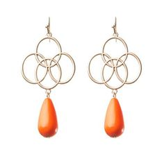 Delilah Earrings in Coral  Love these earrings!#Repin By:Pinterest++ for iPad#