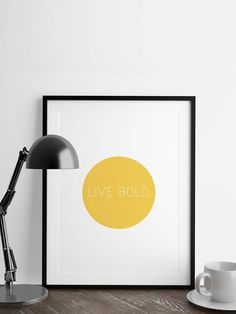 A minimalist design to inspire you or a loved one. This digital print would make a great addition to a home office. This simple circle and text design will fit in easily to any decor. OTHER COLORS: - Lapis Blue : https://www.etsy.com/listing/542894833 - Island Paradise : https://www.etsy.com/listing/543153803 - Pink Yarrow : https://www.etsy.com/listing/543156919 - Niagara : https://www.etsy.com/listing/542895373 ...