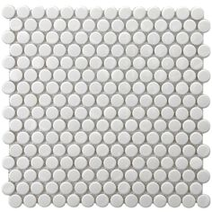 Change the look of a wall or floor with these white porcelain mosaic tiles, which feature an elegant glazed white finish. Backed by mesh mounting, the tiles are easy to install. Since the tiles are impervious, they can be used indoors and outdoors.