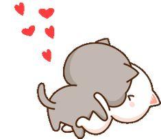 Cute Anime Cat, Cute Bunny Cartoon, Cute Cartoon Pictures, Cute Kiss, Cute Love Gif, Cute Relationship Goals, Cute Relationships, Gif Lindos, Hello Kitty Imagenes