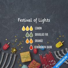 Festival of Lights — Essential Oil Diffuser Blend Essential Oils Guide, Essential Oil Uses, Doterra Essential Oils, Essential Oil Combinations, Savon Soap, Essential Oil Perfume, Essential Oil Diffuser Blends, Festival Lights, Young Living