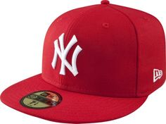 93f9e18c095 MLB New York Yankees Scarlet with White 59FIFTY Fitted Cap Mlb Merchandise
