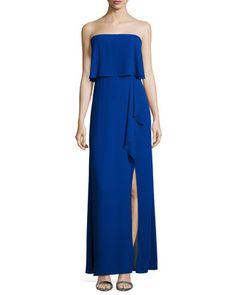 715d676f4dffc BCBGMAXAZRIA Strapless Ruffled Popover Gown