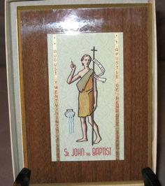 Vintage Saint John the Baptist -Wall Plaque -Catholic- Religious