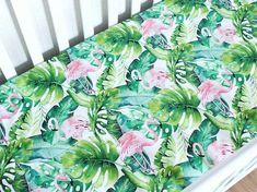 Nursery Ideas For Baby Girls - Interior Decor and Designing Flamingo Nursery, Tropical Nursery, Flamingo Baby Shower, Woodland Crib Bedding, Baby Bedding, Bedding Sets, Baby Girl Nursery Themes, Nursery Ideas, Baby Furniture Sets