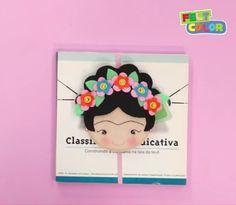Marcador de página da Frida Kahlo... Compartilhando;;;