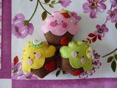 cupcakes fieltro