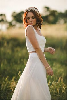 Blog - Alluring Events and Design. Two Piece Wedding Dress Trend