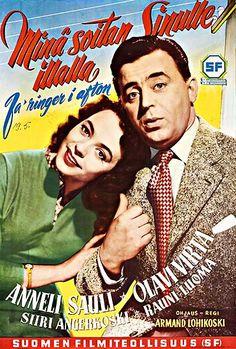 """Vuonna 1954 valmistuneen elokuvan """"Minä soitan sinulle… illalla"""" pääosissa näyttelivät Olavi Virta ja Anneli Sauli. Movie Stars, Movie Tv, Old Commercials, Magazine Articles, Teenage Years, Old Movies, Film Posters, Along The Way, Finland"""