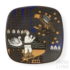 Arabia Kalevala 1998 Annual Plate, designed by Raija Uosikkinen. Find out more about Nordic vintage from Finland on our website 🔎 www.astialiisa.com⠀ 🌍 Free shipping on orders over 50 €!  #raijauosikkinen #arabia #arabiafinland #scandinavianvintage  #finnishvintage #nordicvintagehome #finnishhomes #nordichome #nordichomes #nordicdishes #nordicvintage #vintagedishes #retrodishes #uosikkinen #Finnishdesign #retrocups #coffeecup #Scandinaviandesign