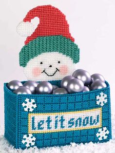 Plastic Canvas - Christmas Patterns - Let It Snow Box