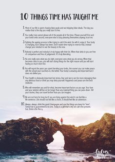 10 THINGS TIME HAS TAUGHT ME PRINT