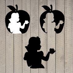 Snow White Silhouette Snow White Party Decor by WhitetailDesigns, $4.00