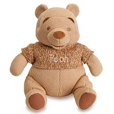 Disney Winnie the Pooh Heirloom Plush for Baby - 15'' | Disney StoreWinnie the Pooh Heirloom Plush for Baby - 15'' - This delightful Pooh plush has soft-to-the-touch knit, and corduroy textures plus monochromatic color styling to please baby's sensitive eyes. Your cute cuddler will love to hug our tubby cubby from the Hundred Acre Wood.
