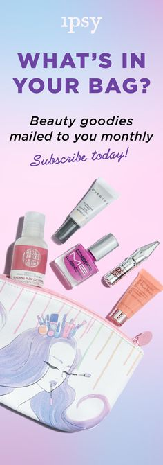 Receive 5 beauty products every month for just $10/month! Makeup bags ...