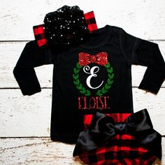 Christmas Gift Shirt Christmas Monogram Shirt Personalized Christmas Name Shirt Christmas Shirt Girl's Holiday Shirt Baby Girl Red and Green - http://www.babies-clothes.info/christmas-gift-shirt-christmas-monogram-shirt-personalized-christmas-name-shirt-christmas-shirt-girls-holiday-shirt-baby-girl-red-and-green.html