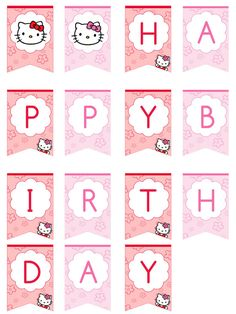 Hello Kitty Happy Birthday Banner by printabletreats