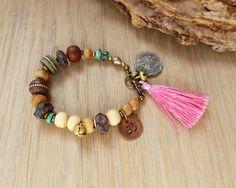 Om bracelet - yoga bracelet - ethnic jewelry - bohemian bracelet