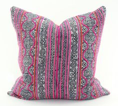 Hmong Indigo Batik Pillow Cover