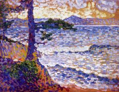 アンリ=エドモン・クロス Henri-Edmond Cross : The Mediterranean Coast Cross Canvas Art, Canvas Art Prints, Cross Art, Henri Matisse, Saint Tropez, Georges Seurat, List Of Artists, Post Impressionism, Cross Paintings