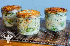 Chicken & Broccoli Casserole Meal Prep in Jars | Fit Men Cook