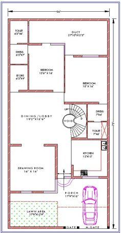 10 Marla House Plan, 2bhk House Plan, House Plans Mansion, Free House Plans, Model House Plan, House Layout Plans, House Plans One Story, 40x60 House Plans, Modern House Floor Plans