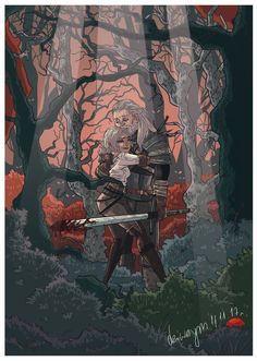 Geralt and Ciri by dziwnym on DeviantArt Witcher 3 Art, The Witcher Game, The Witcher Books, Geeky Wallpaper, Cd Project Red, The Witcher Geralt, Yennefer Of Vengerberg, Game Art, Cool Art