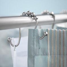 Moen Double Shower Curtain Hooks Finish: Old World Bronze Double Shower Curtain, Shower Curtain Rods, Plywood Furniture, Diy Furniture, Furniture Design, Shower Rods, Shower Niche, Master Shower, Stoff Design