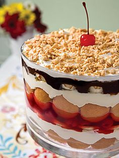 banana split trifle          http://VIPsAccess.com/luxury/hotel/tickets-package/f1-monaco-grand-prix-yacht-cruise.html