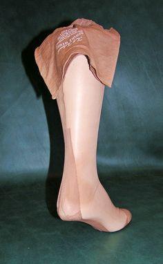 9abb53b8e Vintage 3 Pair Full Fashioned Seamed Nylon Stockings Sz 10 31