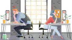 the gloomy office on Behance