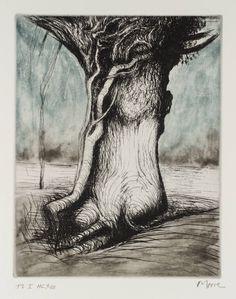 Henry Moore 1979 trees I bole and creeper