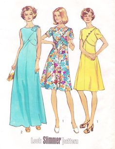 1970s Simplicity Sewing Pattern 6395 Womens Fit and by CloesCloset, $12.00