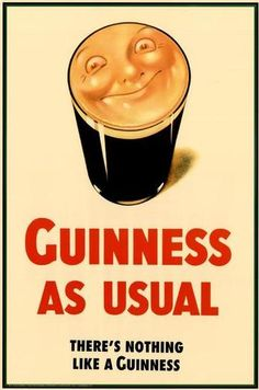 SET VINTAGE FUNNY IRISH 5 GUINNESS BEER POSTERS