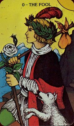 """Illustrations from the Morgan-Greer Tarot reproduced by permission of U.S. Games Systems, Inc., Stamford, CT 06902 USA. Copyrights 1993 by U.S. Games Systems, Inc. Symbols: No hat but a laurel wreath. Iconography: The Fool is titled Le Mat in the Tarot of Marseilles, and Il Matto in most Italian language tarot decks. These archaic words mean """"the madman"""" or """"the beggar"""", and may be related to the word for 'checkmate' in relation to the original use of tarot cards for gaming purposes. In ..."""
