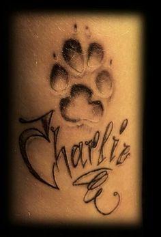 Il mio prossimo tattoo, senza la scritta.. ma con l'impronta del mio cane :3