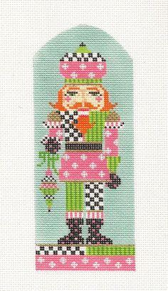 "*2014* Kelly Clark ""Polka Prince Nutcracker"" handpainted Needlepoint Canvas NEW"