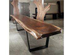 Mesas originales de tronco de abrol para tu comedor hola for Comedores en concepcion