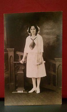Vintage Postcard Real Photo Of A Nurse, 1922