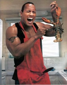 Dwayne Johnson..  Handsome AND funny !