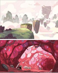 Novos cenários do seriado Steven Universe | THECAB - The Concept Art Blog