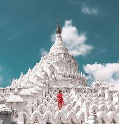 Hsinbyume Pagoda Mingun – the famous Mandalay white temple Willkommen in der erstaunlichsten Pagode in Mandalay, Myanmar!