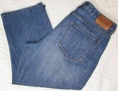 Women Ralph Lauren Jean Company Distressed Capri Mid Calf Jean Shorts sz 10 X 21 #RalphLauren #CapriCropped