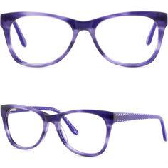 943321088eb5 Details about Women Acetate Plastic Frame Comfortable Spring Hinge  Prescription Glasses Purple
