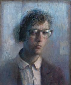 Paul Fenniak- the slight distortion of the figures face gives the appearance of a glass barrier, maybe a rainy day. The figure is realistically depicted with background interaction to give it a story.