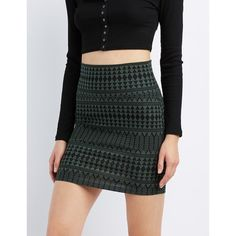 Charlotte Russe Printed Bodycon Mini Skirt ($5) ❤ liked on Polyvore featuring skirts, mini skirts, olive combo, bodycon pencil skirt, olive green pencil skirt, print pencil skirt, high waisted short skirts and patterned mini skirt