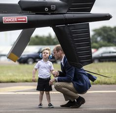 Prince George Is THE Cutest While Catching a Helicopter Ride With His Mom and Dad